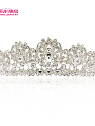 Neoglory Jewelry Flower Wedding Tiara Crown with High Sparkly Clear Austrian Rhinestone for Lady's Pageant