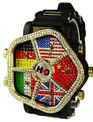 dial grande de línea bandera unisex cinco veces reloj de pulsera de cuarzo zona (colores surtidos)