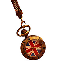 UK Flag Pattern Roman Number Pocket Watch