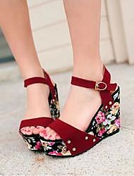 Sakura Women's Shoes Black Wedge Heel 3-6cm Sandals