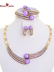 WesternRain New Product Purple Pearl for Women Brand Jewelry Set/Wedding Accessories For Women Pearl Necklace