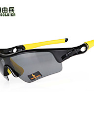 FreeSoldier Anti-UV Cycling Glasses with TR90 Frame(Red and White ,Black and Yellow Frame)