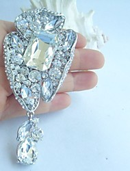 Bridal Accessories Silver-tone Clear Rhinestone Crystal Bridal Brooch Wedding Deco Bridal Bouquet Wedding Jewelry