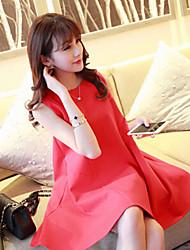 Women's Red Dress , Vintage Sleeveless
