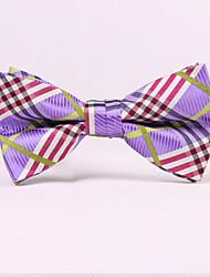 Noeuds Papillon (Violet , Polyester) Tartan