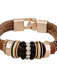 Women's Party/Casual Magnetic Snap Leather Bracelet