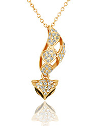 Fashion Fox Shape Alloy Czech Drill Pendant Neckolace For Women's(Rose Gold,Yellow Gold,White Gold)(1Pc)