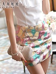 JUPE ( Spandex/Polyester ) Mini - Style - Moyen