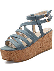 Women's Shoes Denim Wedge Heel Gladiator Sandals Shoes Dress More Colors available