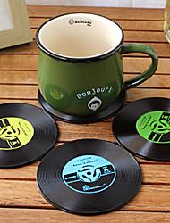 Vintage Vinyl-coaster groovy cd Satztabelle Bar Getränke Schalenmatte 1pc (ramdon Farbe)