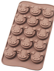 piggy platina de chocolate do molde de silicone