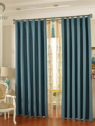 país curtains® un panel de cortina azul apagón sólido