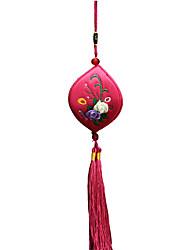 China Handstickerei Anhänger - ein kleines Lächeln (rose)
