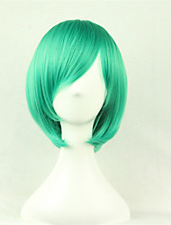 The New Cartoon Color Wig Green FaceShort Straight Hair Wigs