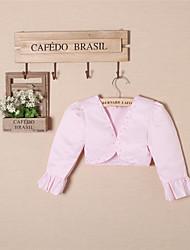 Girl's Cotton/Satin Sweet Inelastic Thin Long Sleeve Short Coats