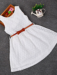 Kid's Beach/Casual/Cute/Party Dresses (Cotton)