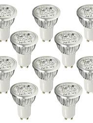 6W GU10 Spot LED 4 LED Haute Puissance 530-580 lm Blanc Froid AC 100-240 V 10 pièces