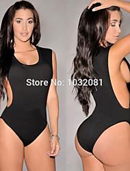 2015 swimwear mulheres sexy bodysuit alta corte um pedaço swimsuit banhista uma peça maiô praia biquini maillot de bain v80
