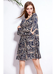 SWIMMART Free Shipping Spring Summer Autumn Leisure Loose Pattern 2015 Women Cotton T-shirt Dress