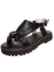 Women's Shoes Low Heel Gladiator Sandals Dress Black/White