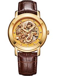 """bos dos homens 'a coleção do dragão chinês """"bezerro de ouro discagem automática banda relógio de pulso mecânico"""