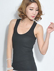 Women's Casual  Sleeveless Regular Shirt (Cotton Blends)