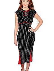 Women's Retro Sexy Polka Dot Fishtail Dress