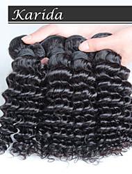 10-30inch 4 piezas profunda pelo rizado malasio, pelo virginal malasio 100%