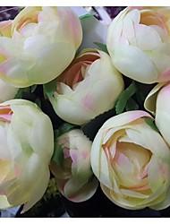 12 têtes de fleurs de simulation camélia bourgeon