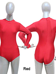 Nylon/Lycra Long Sleeve Turtle-Neck Zipper Back Leotard More Colors for Girls and Ladies