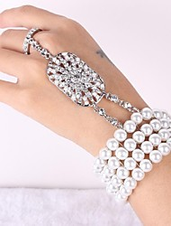 Vintage Pearls & Diamond Wedding Silver Bracelet For Women Lades 1930's Wedding Great Gates