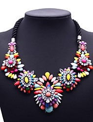 Fashion Jewelry Multi-color Exaggerated Luxury Necklace