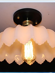 Imitation Jade Glass Retro Personality 1 Head Lotus Ceiling Light