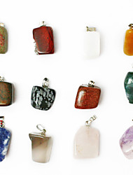 Beadia 24pcs Mixed Color Natural Gemstone Charm Pendant Beads Assorted Irregular Shape Stone Fit Pendant Necklaces