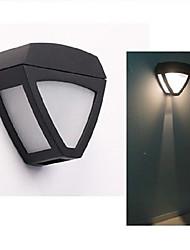 hry® 2leds luz cor branca luzes solares solarwalllight de controle de luz
