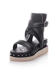 Women's Shoes Platform Platform/Gladiator Sandals Dress Black/Beige