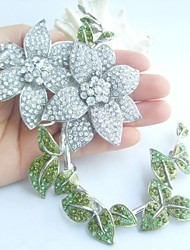 Wedding Accessories Silver-tone Rhinestone Crystal Bridal Brooch Wedding Deco Bridal Bouquet Flower Wedding Brooch