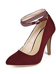 Chaussures Femme-Extérieure / Habillé-Noir / Marron / Bordeaux-Talon Aiguille-Talons / Bout Pointu-Talons-Synthétique