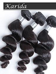 3 LOT / pcs cheveux vierges péruvien couleur naturelle de cheveux humains d'onde lâche 12-30 pouces