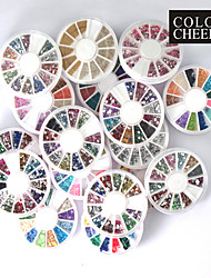 20 PCS Nail Art Decoración Ruedas
