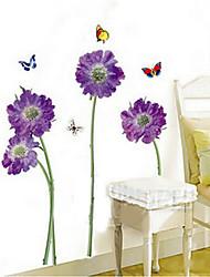 des fleurs et des papillons papier