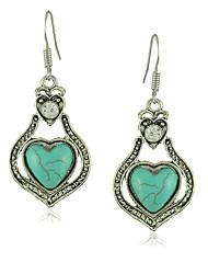 Simple and Elegant Long Turquoise Drop Earrings for Women Jewelry Brinco de Turquesa