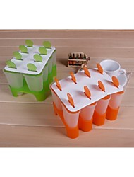 Fashion 16pcs/lot Ice Cream Modelling Ice Lolly Mold Diy Popsicle Ice Cube Tray Making Tools (Random Color)