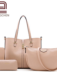 Handcee® Good Quality PU Vintage Style Cheap Woman Tote Bag