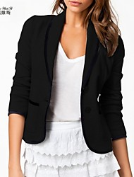 Women's Lapel Neck Loose Fit Leisure Coat