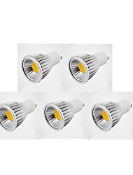 5pcs bestlighting gu10 5w cob 450-500 lm par lumières dimmable 220-240 / 110-130 v