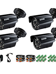 ZOSI® 4 pcs Camera Kit 700TVL IR Cut Outdoor Day Night CCTV Seurity  Surveillance Bullet Camera