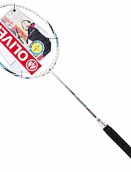 Men/Unisex/Women/Kids Badminton Rackets Low Windage/High Elasticity/Durable White 1 Piece Carbon Fiber