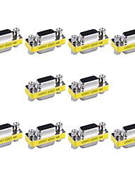 15 pinos vga femininos para vga femininos mini-placas de trocador de gênero (10 pcs)