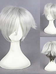 14inch Short Game of Death Wig Decim Silvery Gray Mixed Synthetic Anime Cosplay Wig CS-247A